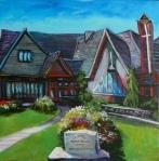 "Heritage Takes Many Forms (St. John's Presbyterian Church) 30"" x 30"" - Tiko Kerr"