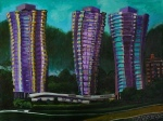 "Through Way (Beach Towers) 30"" x 40"" - Tiko Kerr"
