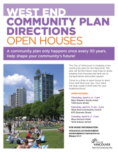 West End Community Plan DirectionsOpen Houses