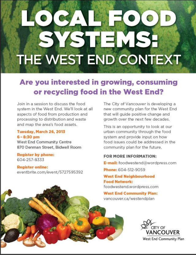 Local Food Systems West End POSTER, 26-Mar-2013
