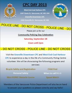 Community Policing Day West End SAT 28-Sept-2013