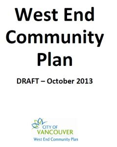 CoV West End Community Plan cover page DRAFT Oct 2013