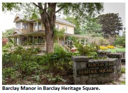 Barclay Manor in Heritage Square, courtesy CoV