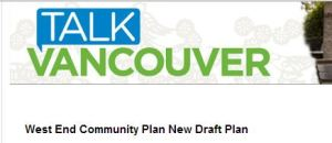 Talk Vancouver West End Plan cover