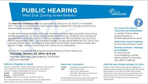 Notice of Public Hearing - West  End Zoning Amendments - 2014-01-23