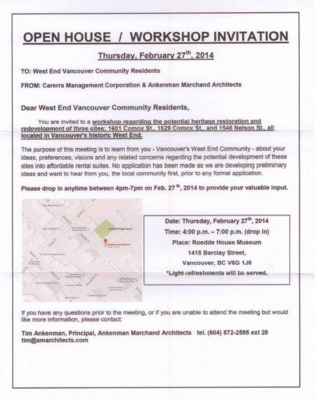 1601, 1529 Comox 1546 Nelson development workshop 17-Feb-2014