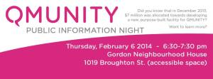 Qmunity public info nite 6-Feb-2014 Thurs at GNH 6-30pm