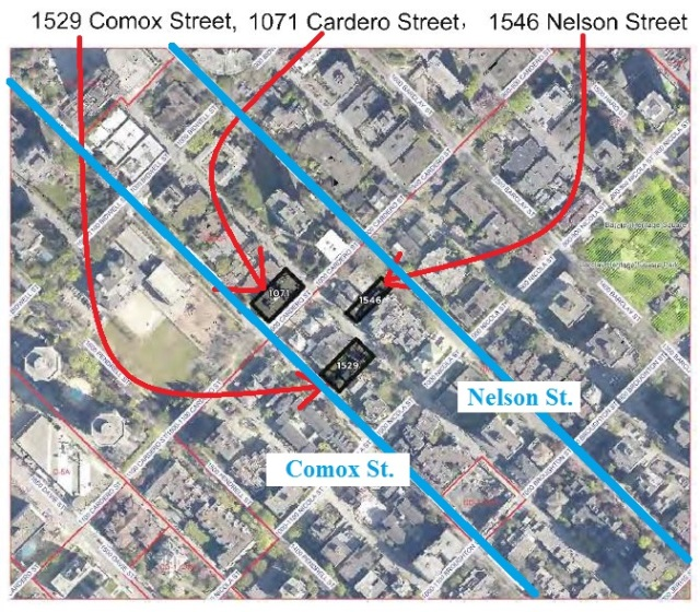 Laneway infill applications Comox, Nelson, Cardero Sept-2014