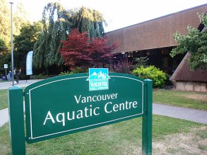 Vancouver Aquatic Centre, doubled as a voting place on election day