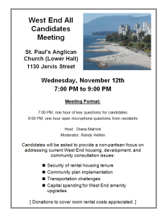 West End candidates meeting 12-Nov-2014 St Pauls