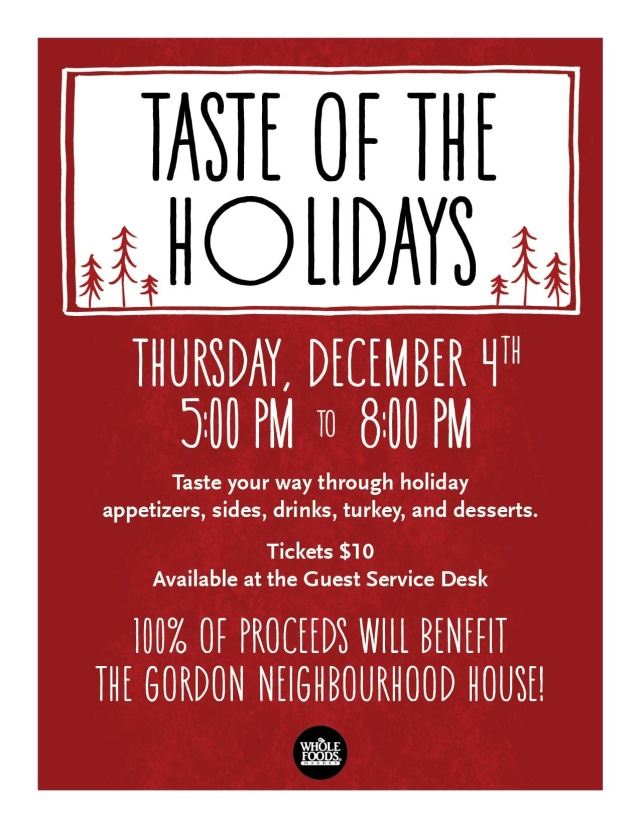 GNH Taste of Holidays Poster 4-Dec-2014