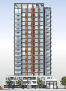 1301-Davie_2 side vew proposed 19 storeys