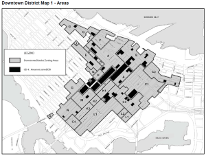 Downtown District, subject to proposed amendments to the Downtown Official Development Plan -- implications for the West End