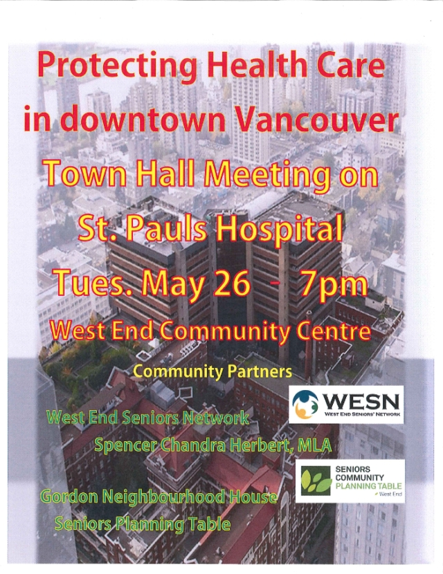 St Pauls Hospital event 26-May-2015