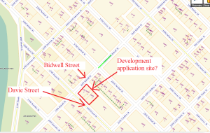 Vanmap 1100 block Bidwell Street, West End