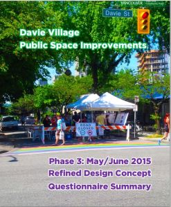 Davie Village Public Space Improvements, June 2015 report cover