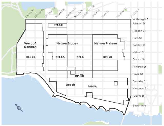 West End Residential Neighbourhoods, updated with RM-5D zone 13-Jul-2015 PH