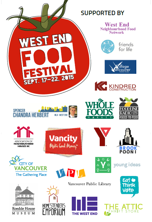 West End Food Fest 2015 support page