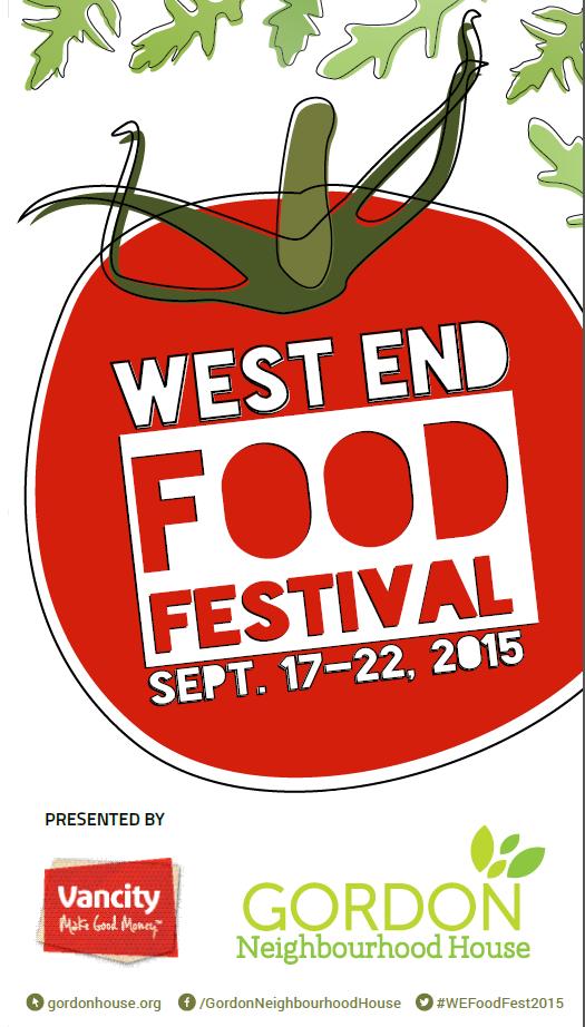West End Food Fest 2015 title page