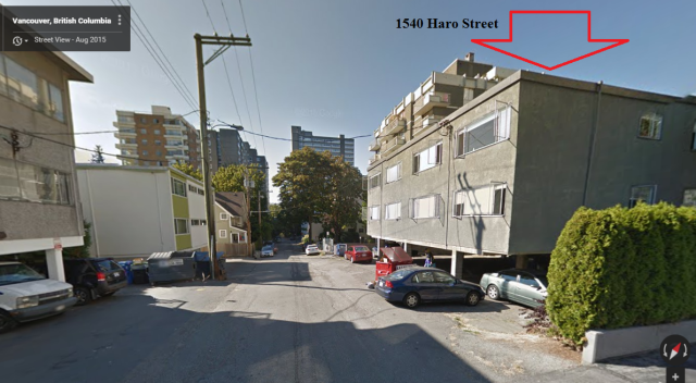 1540 Haro, Google street view Aug 2015