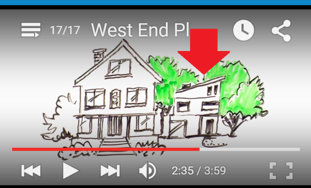 Laneway house depicted in West End Plan video 2013 at 2-35 arrow