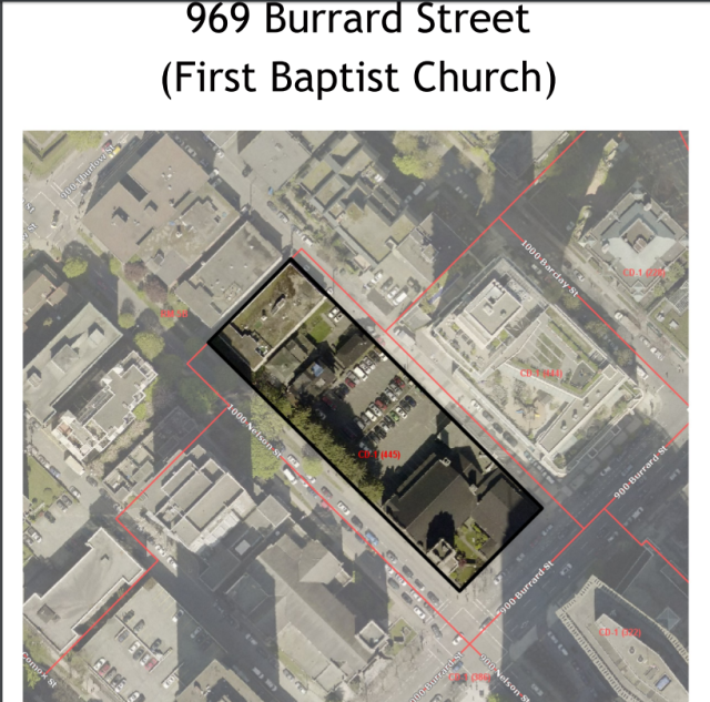 First Baptist Church rezoning location 969 Burrard, UDP, 6-Apr-2016
