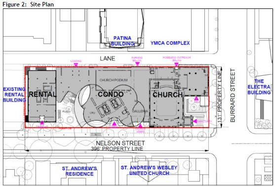 969 Burrard First Baptist Westbank, site plan 2017