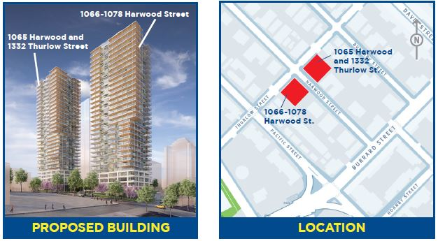 1065 Harwood + Thurlow 2 towers Open house Oct 2017