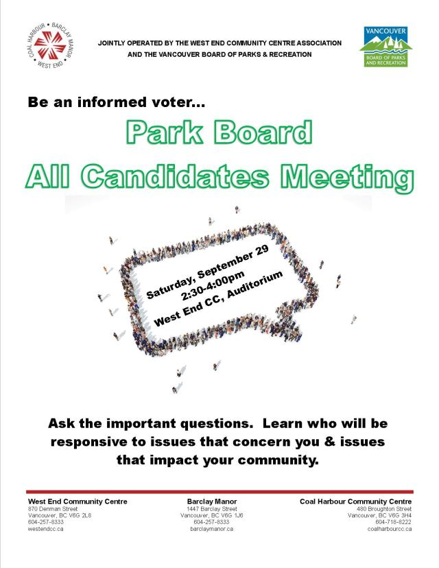 WECCA Park Board All Candidates Meeting 29-Sep-2018