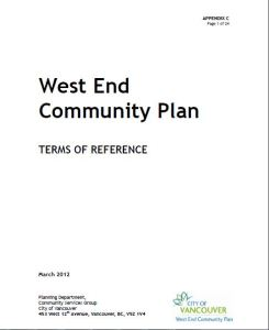 west end community plan tor cover page