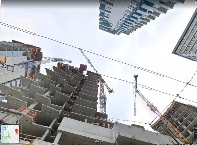 Sky view at 1670 Davie, Google Streetview 29-Feb-2020